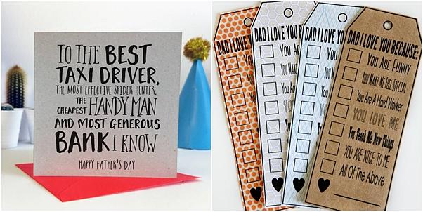 cartões criativos dia dos pais