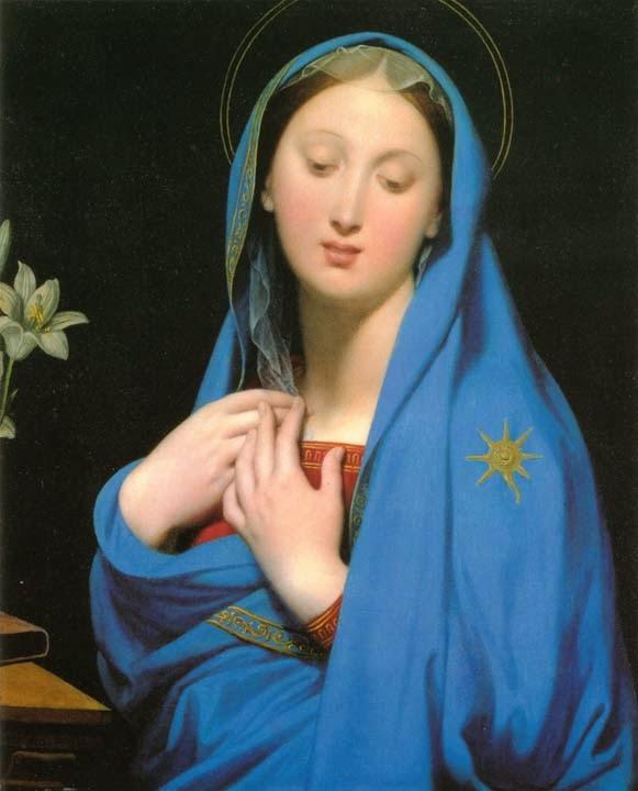 Virgem da Adoção - Ingres e suas principas pinturas ~ Neoclassicismo