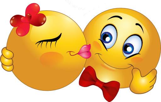 Sweet kiss smileys