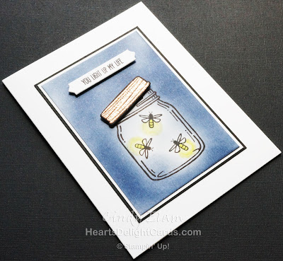Heart's Delight Cards, Any Occasion Card, Fireflies, Jar of Love, Lightning Bugs, Stampin' Up