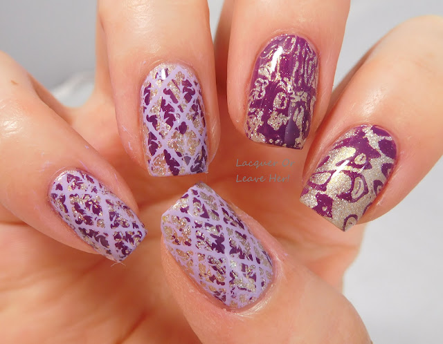 Messy Mansion Stencil Kit + MM18 over Zoya Alicia