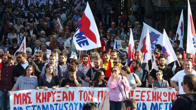 Συλλαλητήριο του ΠΑΜΕ στην Αλεξανδρούπολη ενάντια στο πολυνομοσχέδιο - έκτρωμα