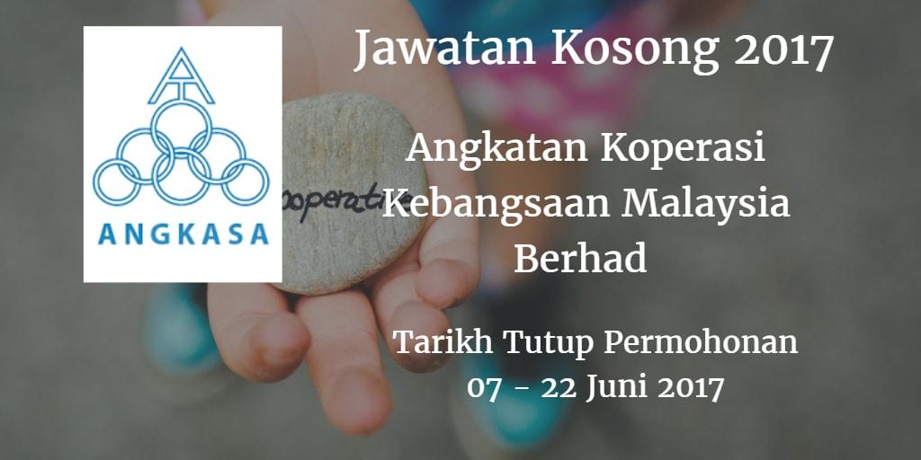 Jawatan Kosong ANGKASA 07 - 22 Juni 2017