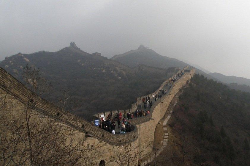 Linha do tempo do planeta muralha da china pequim for A muralha da china vista da lua