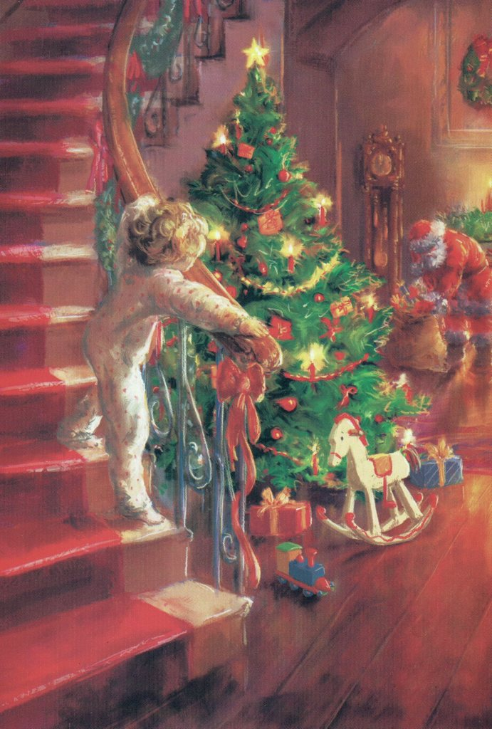 the snow softly fell in the still of christmas eve santa and his sleigh effortlessly made its way from house to house to bring gifts for the deserving - When Was Christmas Story Made