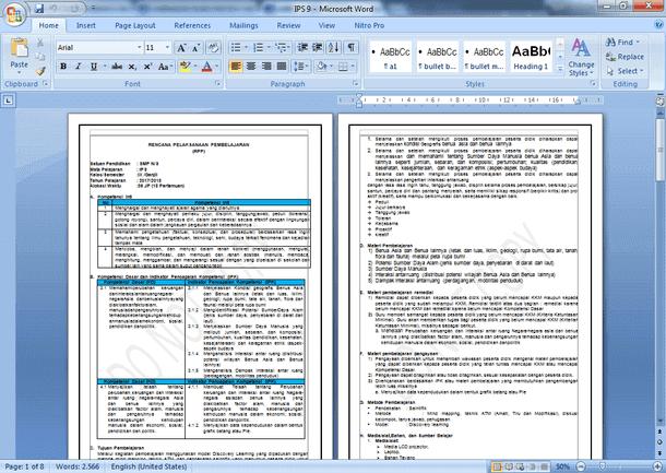 Contoh RPP IPS K13 Kelas 9 SMP Rev 2017 dengan Penguatan Karakter (PPK, Literasi, HOTS dan 4C)