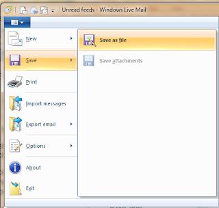 Windows live mail screen shot.