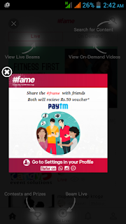 Rs.50 paytm voucher #frame proof screenshot