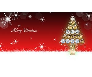 仮想通貨で作ったクリスマスツリーイメージ