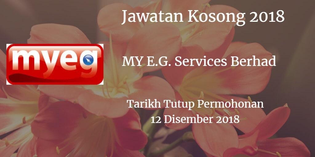 Jawatan Kosong MY E.G. Services Berhad 12 Disember 2018