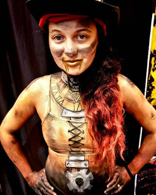 Steampunk makeup how to DIY body and face painting