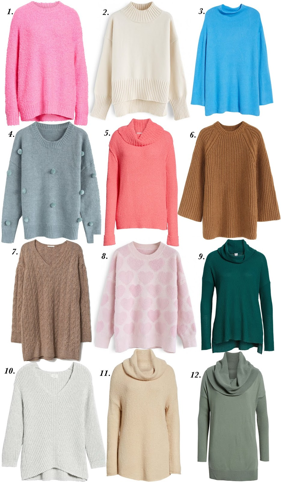 Twelve Sweaters (All Under $100) That Can Be Worn With Leggings - Something Delightful Blog