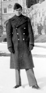 Dad as a WWII soldier in his winter coat