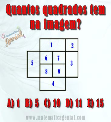 Quantos quadrados tem na imagem?