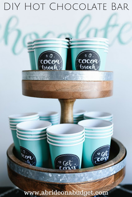 hot chocolate bar wedding idea