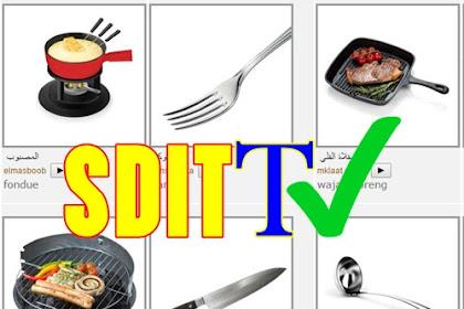 MATERI BAHASA ARAB SD - Mengenal Alat Alat Dapur( Perabot Dapur) Kosakata + Percakapan