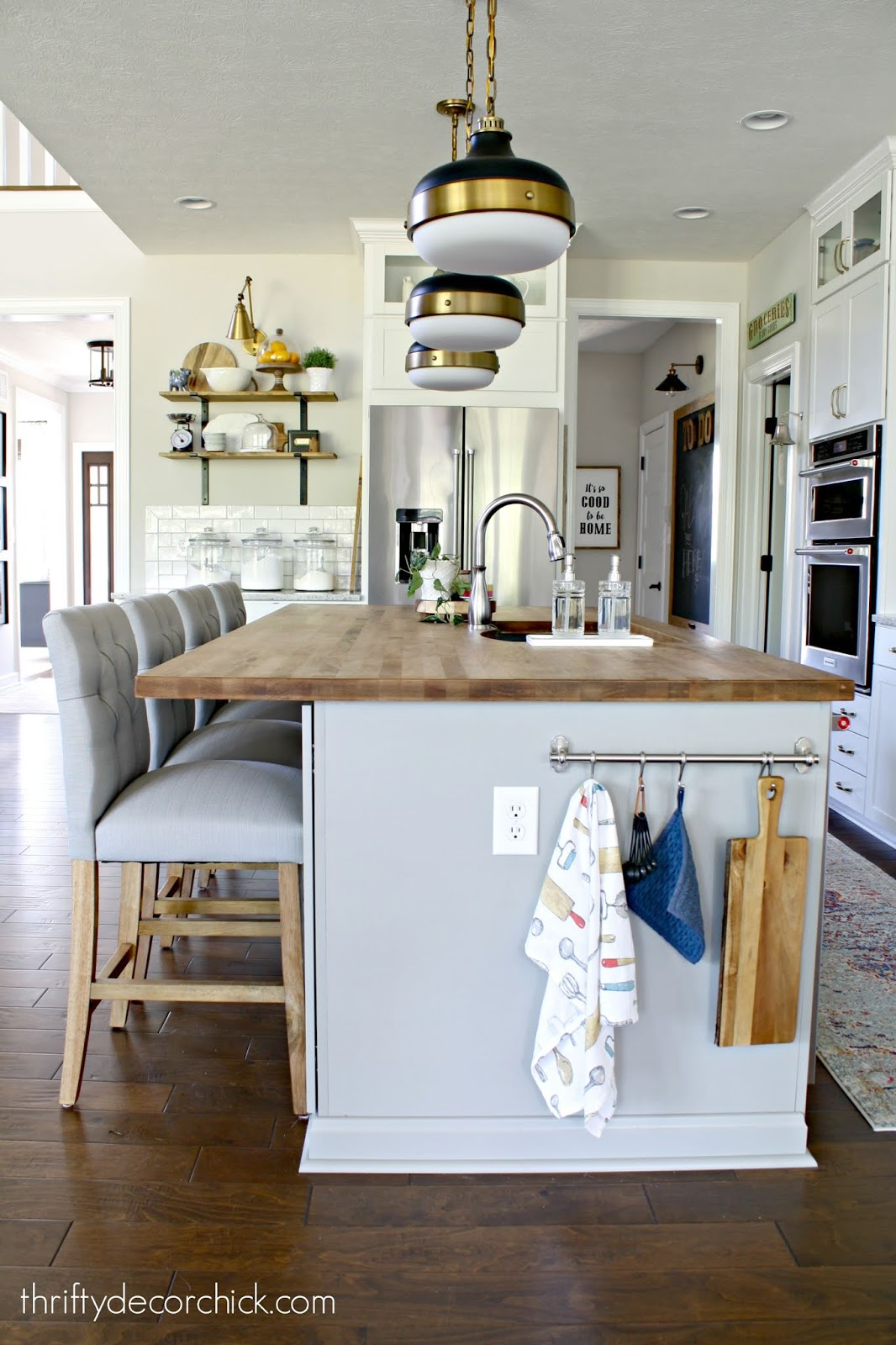 How to add character to plain kitchen island