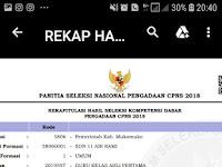 Daftar Peserta Yang Dinyatakan Lolos Untuk Mengikuti Tahap Seleksi Kompetensi Bidang (SKB) - Kabupaten Muko - muko