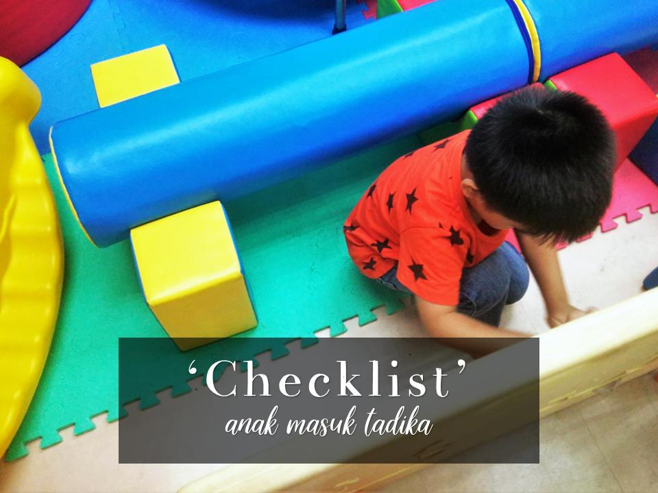 checklist before kindergarten