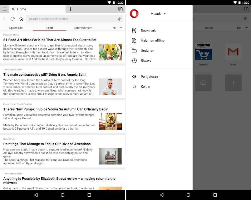 10 Aplikasi Browser Android Terbaik - Opera