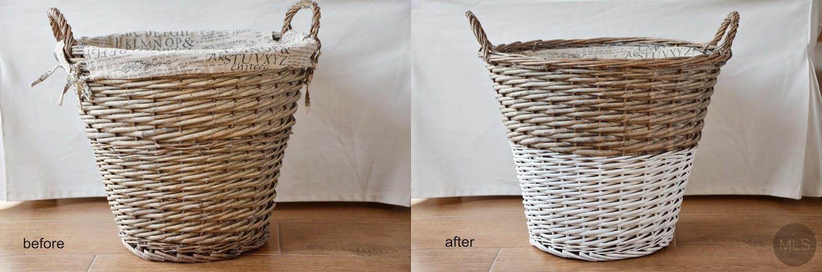 Dip dyed baskets - DIY