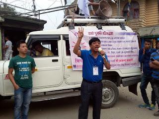 CPRM candidate Arun Ghatani in Nalidara Mungpoo