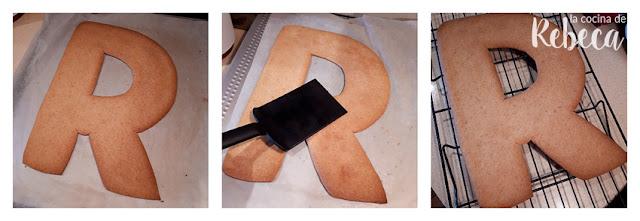 Receta tarta abecedario de galleta y crema: enfriado de la masa