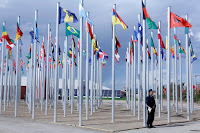 Flags from different countries are displayed at the World Climate Change Conference 2016 (COP22) in Marrakech, Morocco, November 6, 2016. (Credit: Reuters/Youssef Boudlal) Click to Enlarge.