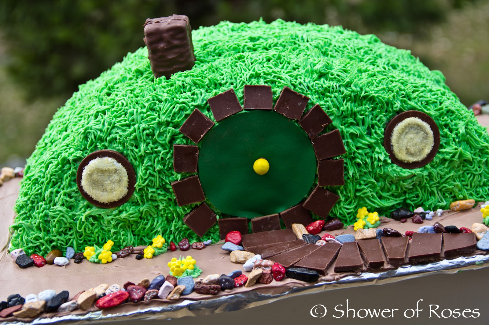 Shower Of Roses Bilbos Hobbit Hole A Hobbit Themed Birthday Cake