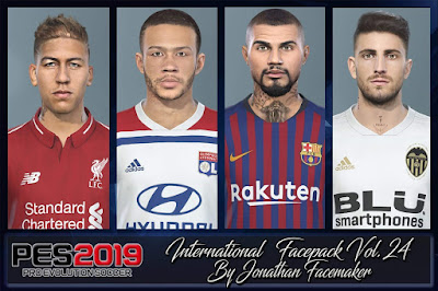 PES 2019 Facepack International vol 23 by Jonathan Facemaker
