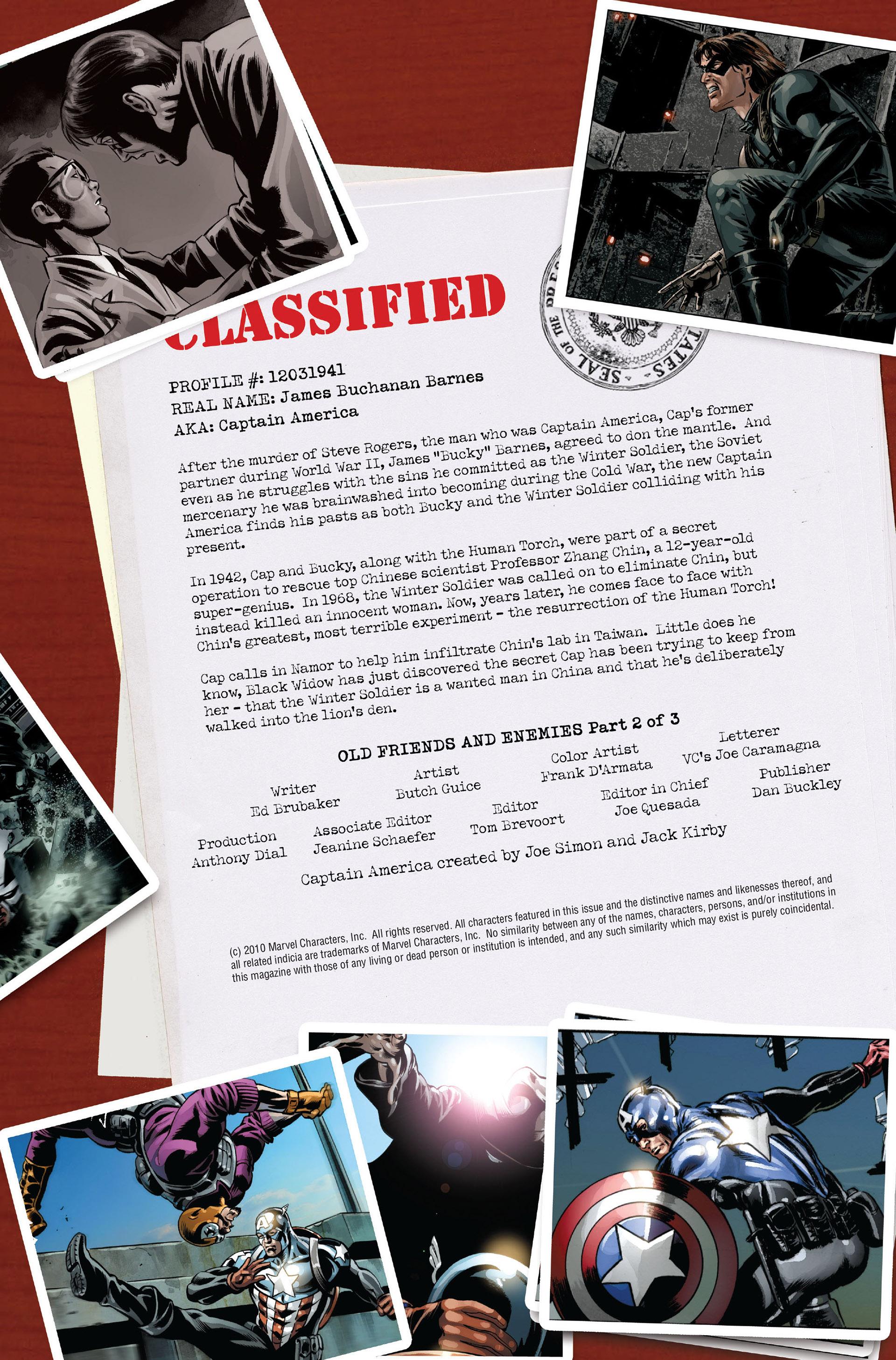 Read online Captain America (2005) comic -  Issue #47 - 2
