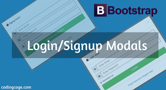 Designing Login Sign Up Forgot Password Modal Form With Bootstrap