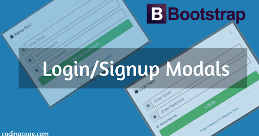 Designing Login, Sign Up & Forgot Password Modal Form with Bootstrap
