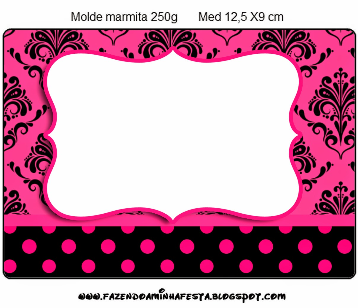 Damask Black In Fucsia Free Printable Candy Bar Labels
