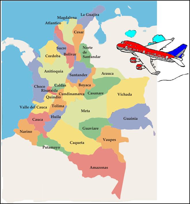 Conociendo sociales 3: MAPA POLÍTICO DE COLOMBIA