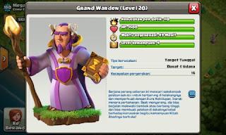 Biaya dan Lama Upgrade Grand Warden COC Terbaru