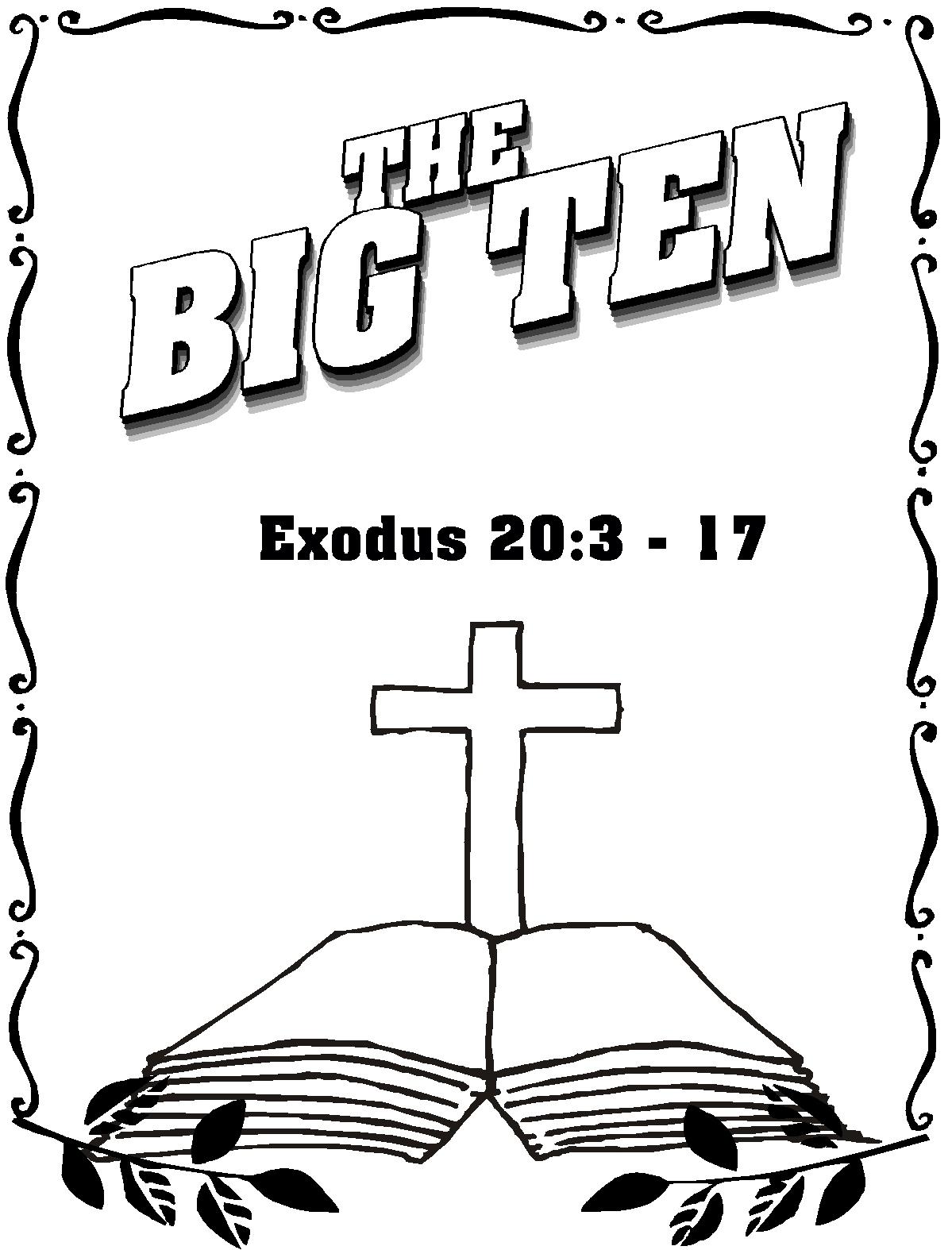 ten commandment coloring pages.html