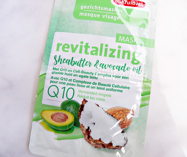 Kruidvat Q10 Revitalizing | Sheabutter & avocado oil gezichtsmasker review