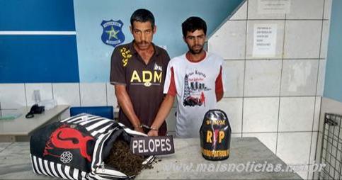 Polícia Militar prende dois homens e apreende 4 kg de maconha em Delmiro Gouveia