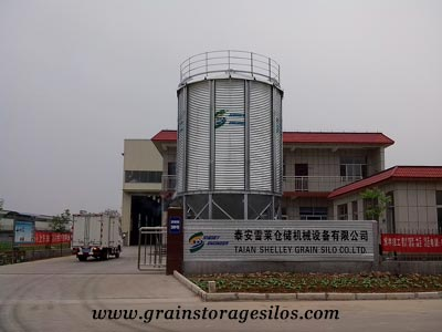 Grain storage silos of Shelley Engineering