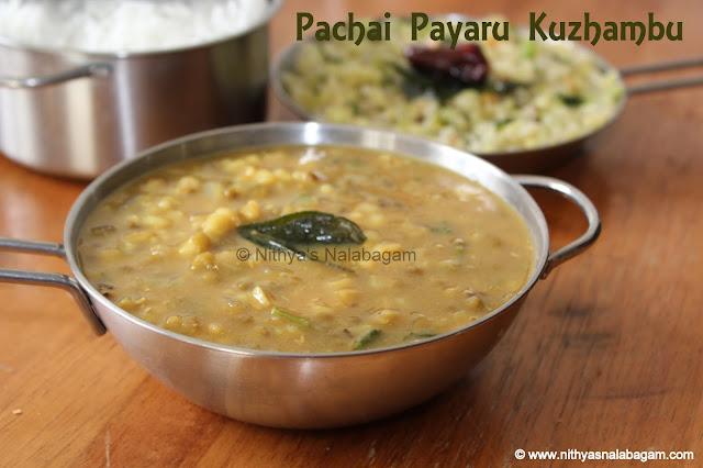 Pachai Payaru Kuzhambu