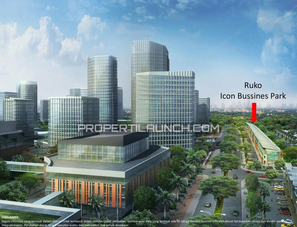 Lokasi Ruko The Icon Business Park BSD