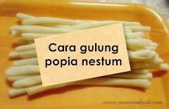 Cara Gulung dan Potong Kulit Popia Nestum