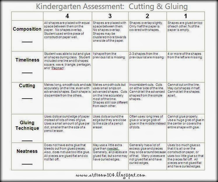 Line Design Art Rubric : Art room revised appr assessments part kindergarten
