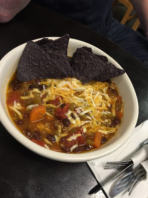Hearty Black Angus Chili at Bushel and Peck's in Beloit, Wisconsin
