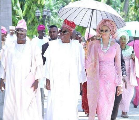 Billionaire steps as Shade Okoya and her husband, Rasaq