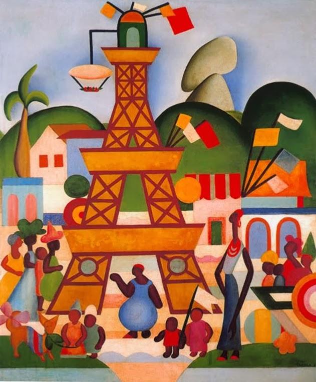 Carnaval em Madureira - Tarsila do Amaral | Pinturas com o tema: Carnaval