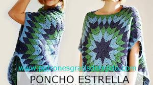 Cómo Tejer Poncho Estrella a Crochet