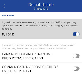 Enable DND (Do Not Disturb) service in Jio