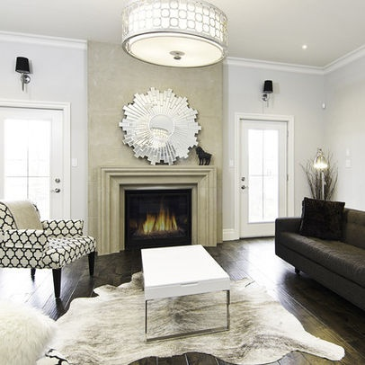 the grey and white cowhide rug
